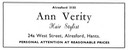 ANN VERITY - Hair Stylist