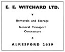 E. E. WITCHARD - Removals & Storage