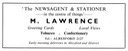 M. LAWRENCE - Newsagent & Stationer