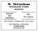 M. McCUTCHEON - Grocer & Off Licence