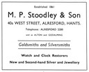 M. P. STOODLEY & Son - Jeweller