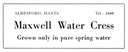 MAXWELL WATER CRESS