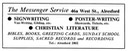 MESSENGER SERVICE - Literature & Signwriting