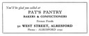 PAT'S PANTRY - Baker & Confectioner