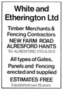 WHITE & ETHERINGTON - Timber Merchant